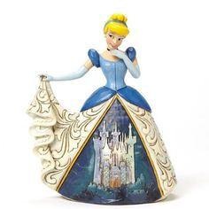 Figurine Cendrillon en Robe de Bal - Château - Disney Traditions Jim Shore