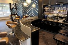 Salon Today Salon of Distinction: Trilogy Salon - Indianapolis, IN.  Takara Belmont Nagi Styling Chairs at the custom color bar.