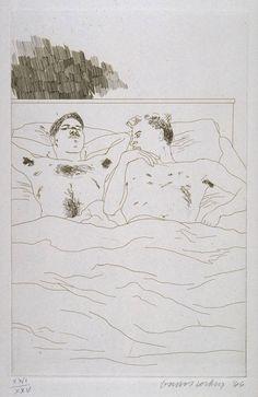 In The Dull Village - David Hockney (1966)