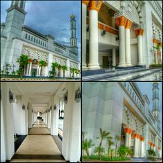 Mujahiddin Mosque, the biggest mosque in Pontianak, Indonesia