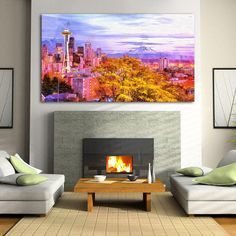About this product: You get a wonderful decoration element for your apartment with Seattle Skyline Photo Canvas canvas, which will make your interior bright and original. We used a 100% cotton high quality canvas, stretched on a natural wood framework. The image you like, is printed with eco-solvent ink, that is not toxic. You will receive a safe and high-quality organic wall decor, which is fully ready to Hang. Available Sizes: TOTAL SIZE: 24x16 inch   60x40 cm TOTAL SIZE: 30x20 inch…