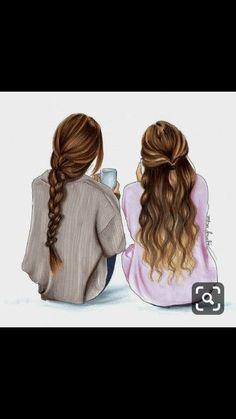 dessin de 2 meilleures amies, dessins de deux meilleurs amis
