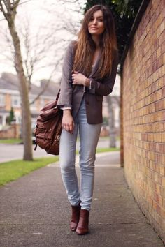 brown chelsea boots outfit - Google Search