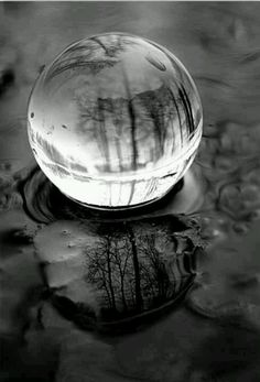 Crystal Ball in Black and White