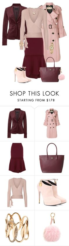 """Winter Capsule, Burgundy Skirt"" by piakarlson on Polyvore featuring Burberry, Rebecca Vallance, Etro, Tom Ford, Edouard Nahum and Fendi"