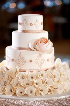 Featured Photographer: Bob and Dawn Davis Photography, Featured Cake: Amy Beck Cake Design; Wedding cake idea.