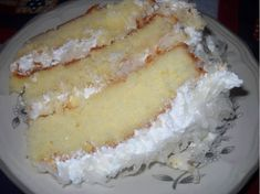 Makes an triple layer cake INGREDIENTS: For the cake: 5 large egg whites ½ cup of milk 2 teaspoons of vanilla extract 3 cups of cake flour 2 and cup sugar 4 ½ teaspoons of baking powder ½ teaspoon of salt 2 sticks Southern Coconut Cake Recipe, Coconut Recipes, 3 Layer Coconut Cake Recipe, Cake Flour Recipe, Cream Cheese Buttercream Frosting, Coconut Frosting, Coconut Cakes, Lemon Coconut, Coconut Cream