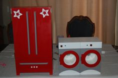 American Girl Doll Washer, Dryer, and Armoire