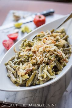 Creamy Garlic Parmesan green Beans, simmered in the white garlic sauce until the flavor has permeated all the way through. Great all around recipe!