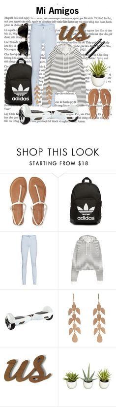 """Mi Amigos"" by ice-blue22 ❤ liked on Polyvore featuring Aéropostale, Ray-Ban, adidas Originals, 7 For All Mankind, H&M, Irene Neuwirth, Improvements and Fountain"