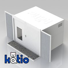 Katio™ : Your Kat's Patio. The kitty litter box that goes in your window – just like an A/C unit. #cats #katio http://mykatio.com/store