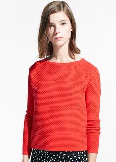 Camisola textura parte algodão