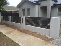 House Fence Design, 3 Storey House Design, Modern Fence Design, Front Yard Design, Front Yard Fence, Modern Bungalow House Plans, House Front, Backyard Landscaping, Ideas