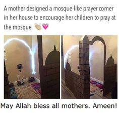 Wow I so wanna make this for my kids in our new home inshallah inshallah awwww so amazing Mashallah <3
