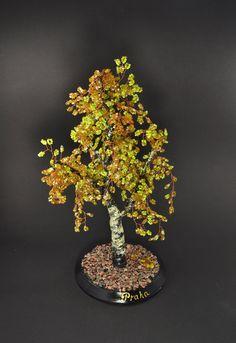 Beaded tree - autumn birch, miniature home decoration. €20.00, via Etsy.