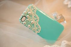 Free shipping/hot model pearl lace/7 colours/ Rhinestone Crystal Diamond pearl Hard phone Case Cover for iphone4/4s,-in Phone Bags & Cases from Phones & Telecommunications on Aliexpress.com