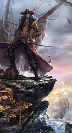 fantasy pirate art