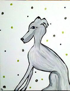 Italian Greyhound Art ~ by Tammy Downing ~ //photo ©