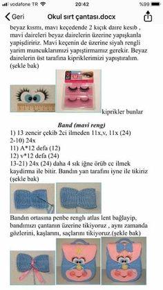 carina baltzer's media statistics and analytics Crochet Backpack, Backpack Pattern, Crochet Dolls Free Patterns, Doily Patterns, Crochet Home, Free Crochet, Crochet Parrot, Crochet Beach Bags, Mochila Crochet