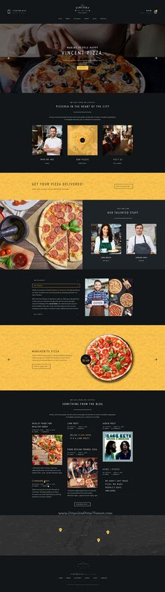 Buy Restaurant Vincent PSD by pixel-mafia on ThemeForest. Vincent – Restaurant and Online Ordering eCommerce PSD TemplateWelcome to our pizza PSD template inspired by the lov. Best Restaurant Websites, Restaurant Website Design, Restaurant Website Templates, Restaurant Themes, Website Design Company, Restaurant Week, Pizza Restaurant, Food Web Design, Best Web Design
