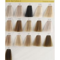 Rich Naturals Tonalita Fredde Color Chart Colors Very Beautiful Hair Appear Natural Share The Joy Más
