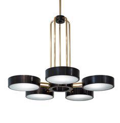 The Abbott Five Light Chandelier  Traditional, Transitional, MidCentury  Modern, Contemporary, Industrial, Organic, Glass, Metal, Chandelier by Studio Van Den Akker