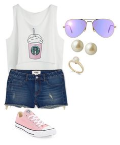 """Untitled #23"" by ellamcconnell2005 on Polyvore featuring Converse, Victoria Townsend, Carolee and Ray-Ban"