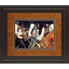 ClassyArtWholesalers Jamming by Steven Johnson Framed Painting Print