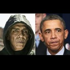 On the left, Obama. On the right, Satan in the Bible TV Series. Or maybe it's the other way around. I can't tell.