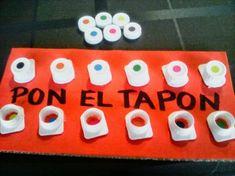 """APRENDE JUGANDO CON PETRA: """"PON EL TAPÓN"""", practica la motricidad fina enroscando y desenroscando http://aprendejugandoconpetra.blogspot.com.es"""
