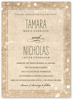 Sparkly Lights Wedding Invitation