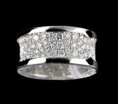 Bvlgari (or Bulgari)B Zero 1 White Gold Diamond Ring Size 53 1150ae5c1f02e