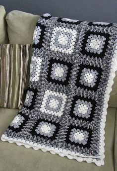 black white grey blanket: