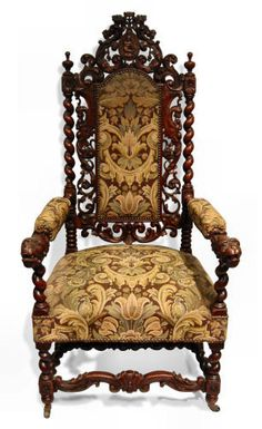 turned chair, early baroque small scale motifs