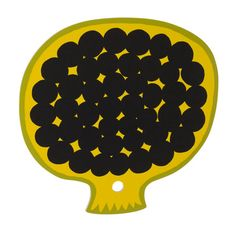 Marimekko - Kompotti Yellow/Green/Black Chopping Board