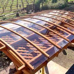 Arched Pergola Kits Small Backyard Patio, Backyard Patio Designs, Patio Ideas, Backyard Landscaping, Backyard Ideas, Curved Pergola, Building A Pergola, Deck With Pergola, Pergola Kits