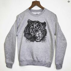 THE BEARHUG CO - Tigerface - Heather Grey Sweatshirt