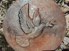 Dove Stepping Stone Garden Plaque by MountainArtCasting on Etsy
