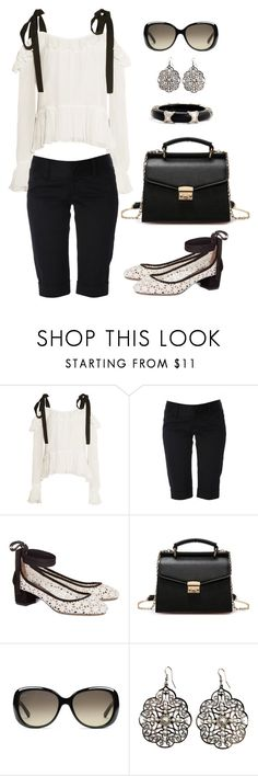 """""""Untitled #1406"""" by gallant81 ❤ liked on Polyvore featuring Cinq à Sept, Alice + Olivia, Tabitha Simmons, Gucci, Bold Elements and Alexis Bittar"""