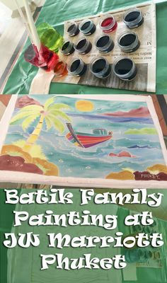Batik Family Painting at JW Marriott Phuket Resort & Spa, Phuket, Thailand
