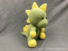 5 Little Monsters: Dinosaur Softie The Effective Pictures We Offer You About St. 5 Little Monsters Crochet Dinosaur Pattern Free, Crochet Animal Patterns, Stuffed Animal Patterns, Crochet Blanket Patterns, Crochet Animals, Crochet Patterns Amigurumi, Crochet Toys, Crochet Baby, Free Crochet