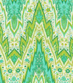 Home Decor Print Fabric-  Williamsburg Bray Flamestitch Citron