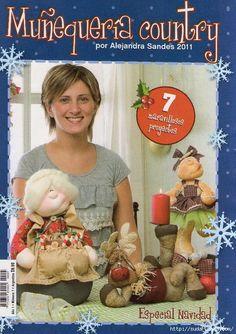 Album Archive - muñequeria country n Cross Stitch Magazines, Cross Stitch Books, Book Crafts, Hobbies And Crafts, Christmas Books, Christmas Crafts, Art Doll Tutorial, Sewing Magazines, Biscuit