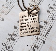 John Lennon Beautiful boy lyrics necklace  by CharmingLyrics, $21.00