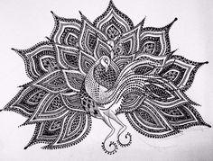 Original handdrawn intricate peacock by ysirajillustration peacock feather tattoo, peacock art, feather tattoos Peacock Feather Tattoo, Peacock Art, Feather Tattoos, Mandala Drawing, Mandala Art, Mandala Design, Dancing Drawings, Mehndi Art Designs, Mini Canvas Art