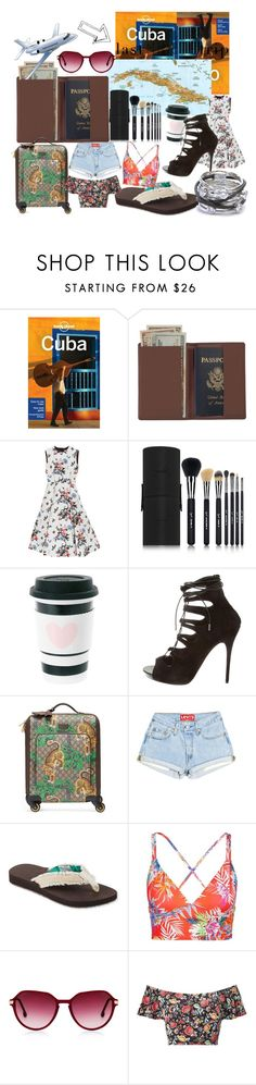 """""""Cuba bound"""" by couturerouge ❤ liked on Polyvore featuring Lonely Planet, Royce Leather, Valentino, Sigma, Alexander McQueen, Gucci, L.L.Bean, Vitamin A, Miss Selfridge and Charriol"""