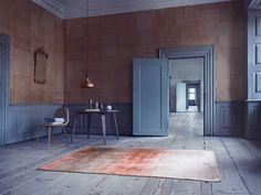 皮革和竹絲質披風地毯| Yellowtrace