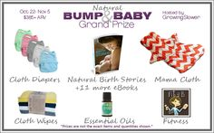 Natural Bump & Baby Giveaway Grand Prize {$385+ ARV} & Natural Birth Stories book launch