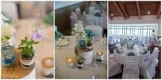 Succulent wedding decor. Penobscot Valley Country Club Wedding Photos by Linda Barry Photography