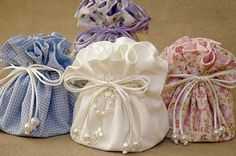 lavender and soaps .maybe some Chocolates too! Lavender Bags, Lavender Sachets, Wedding Favours, Wedding Gifts, Sewing Crafts, Sewing Projects, Lace Bag, Soap Packaging, Fabric Bags